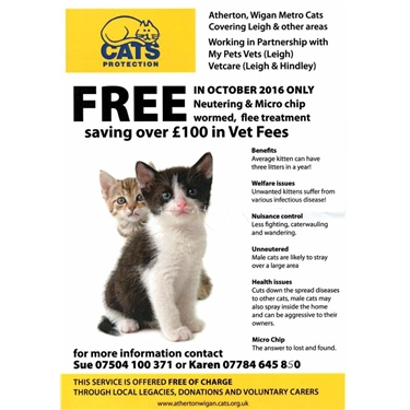 FREE NEUTERING AND MICROCHIPPING