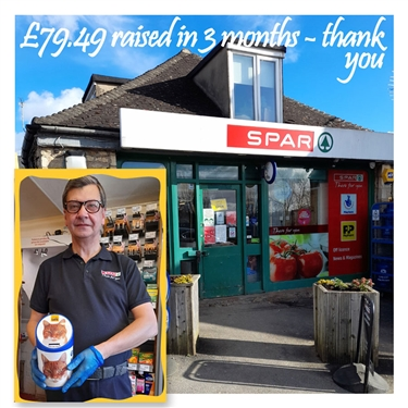 Well done SPAR!  Fundraising at Toddington