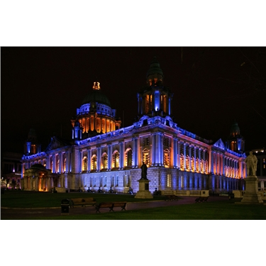 Belfast City Hall Illuminated in Cats Protection
