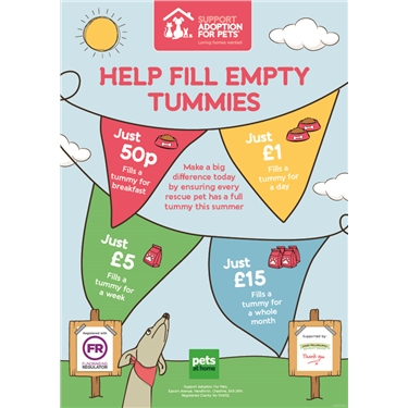 Help Fill Empty Tummies - Pets at Home Summer Fundraiser