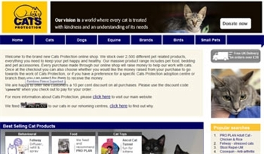 We are pleased to let you know that Cats Protection has launched a new online shop
