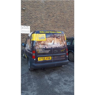 Look out for our new Cats Protection van!!