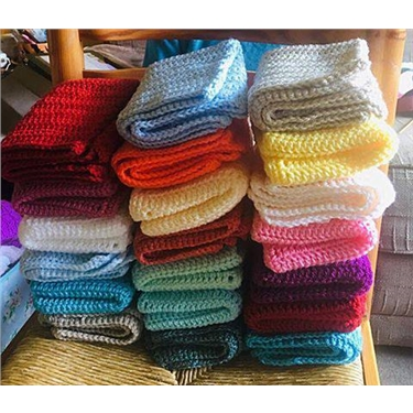 Kind Donation Of Knitted Blankets