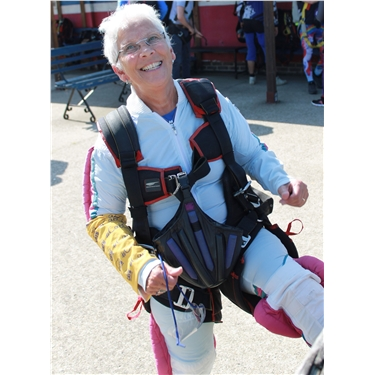 Val, our Parachuting Pensioner, jumped to help the cats