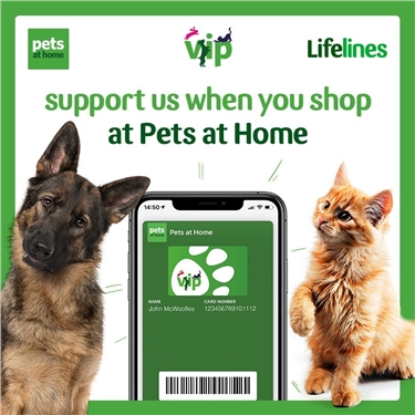Are you a Pets at Home Customer? Please consider supporting us through their VIP Club.