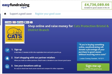 easyfundraising - fundraise as you shop online