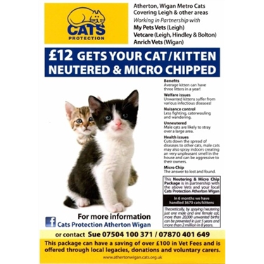 £12 neutering and microchipping, available to everyone