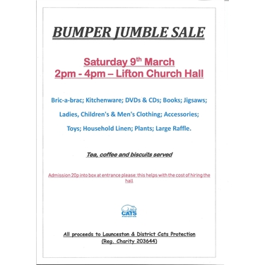 Bumper Jumble Sale Lifton