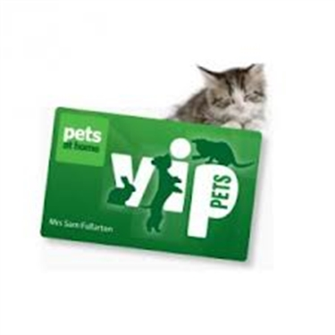 Swipe and Donate! Pets at Home VIP Card.