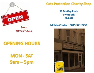 Charity Shop Opening Times