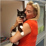 George reunited with his owner after five years