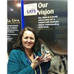 Cats Protection celebrates 'James Herriot' Award for Maggie Roberts