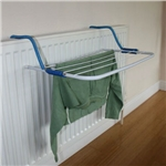 Be careful with radiator clothes drying racks!