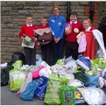 Primary school donates bag-fulls of cat food and blankets