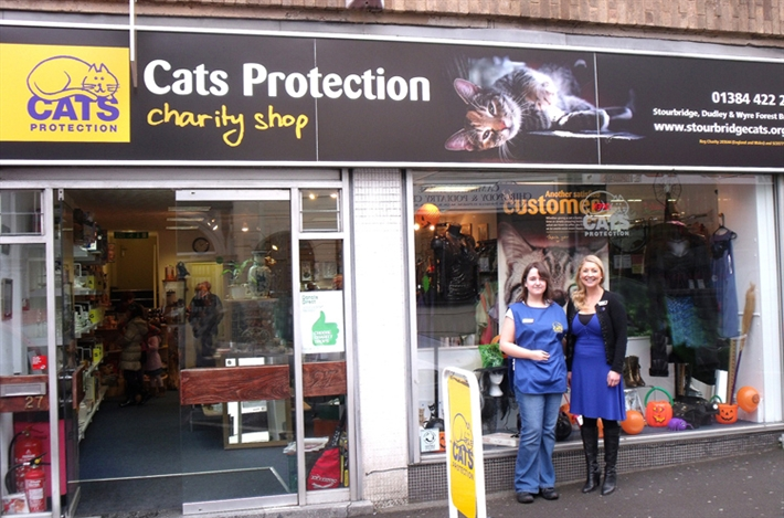 cats protection shop front