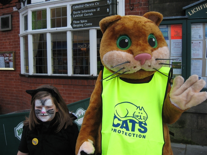 Homer the Cat and Friend at recent event