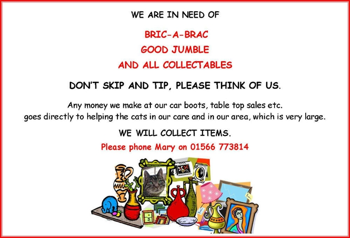 Ad for bric-a-brac%44 good jumble and all collectables